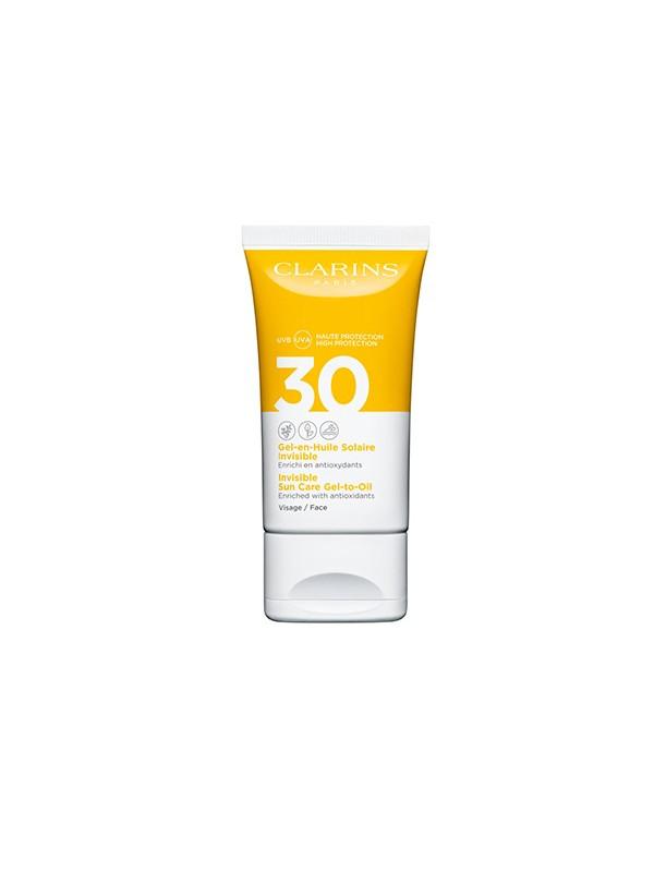 Gel-huile solaire invisible pour le visage Uva / Uvb 30