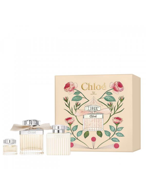 Chloe Signature EDP 75 ml + Lotion pour le corps 100 ml + Miniature 5 ml
