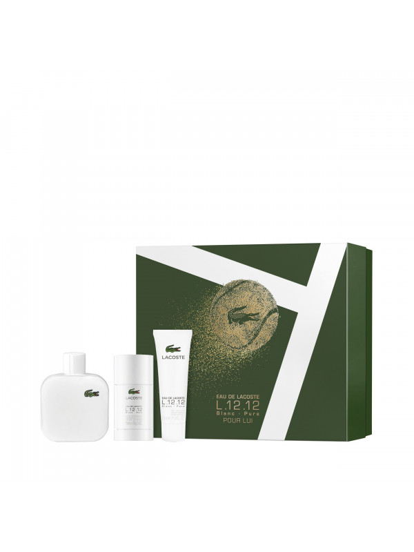 L.12.12 Blanc EDT 100ml + deo stick 75ml + SG 50ml eclair parfumeries
