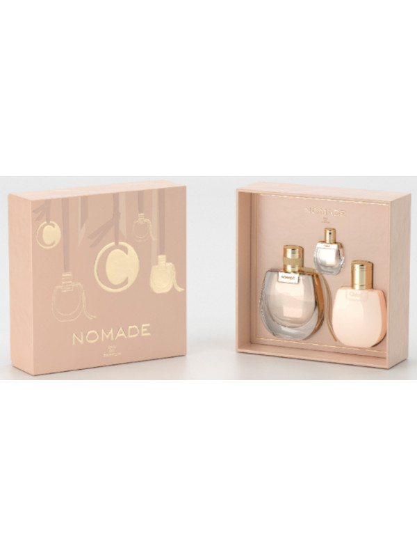 Chloe Nomade EDP 75ml + Body Lotion 100 ml + Mini 5 ml eclair parfumeries
