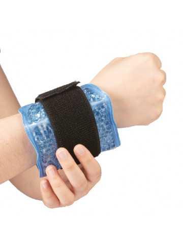 Pearl Therm Banda regulable para muñeca o tobillo con perlas de gel terapéuticas frío/calor