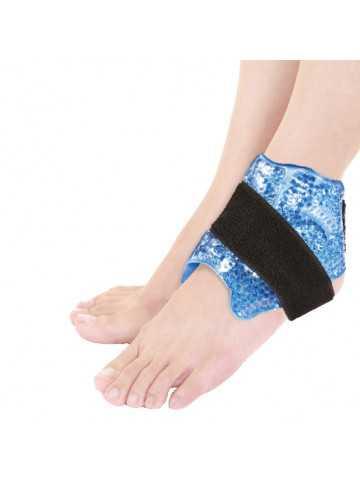 Pearl Therm Banda regulable para el tobillo con perlas de gel terapéuticas frío/calor